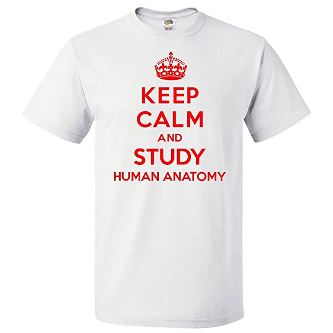 Amazon.com: ShirtScope Keep Calm and Study Human Anatomy T Shirt ...