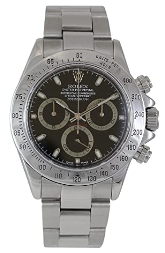 Rolex Daytona Cosmograph Stainless Steel with Blac 116520 - Reloj: Amazon.es: Relojes
