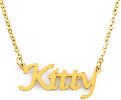 Cat necklace,Girl necklace Best Friends necklace Personalized silver necklace Alphabet necklace Bridesmaid Gift,couple necklace,mom gift