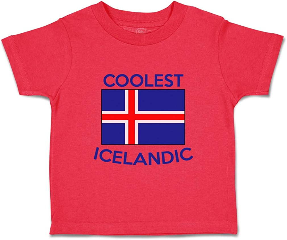 Custom Baby /& Toddler T-Shirt Coolest Icelandic Cotton Boy Girl Clothes