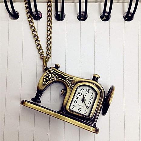 YHWW Reloj de bolsill oAleación Retro Máquinas de Coser Antiguas Reloj de Bolsillo Colgante: Amazon.es: Deportes y aire libre