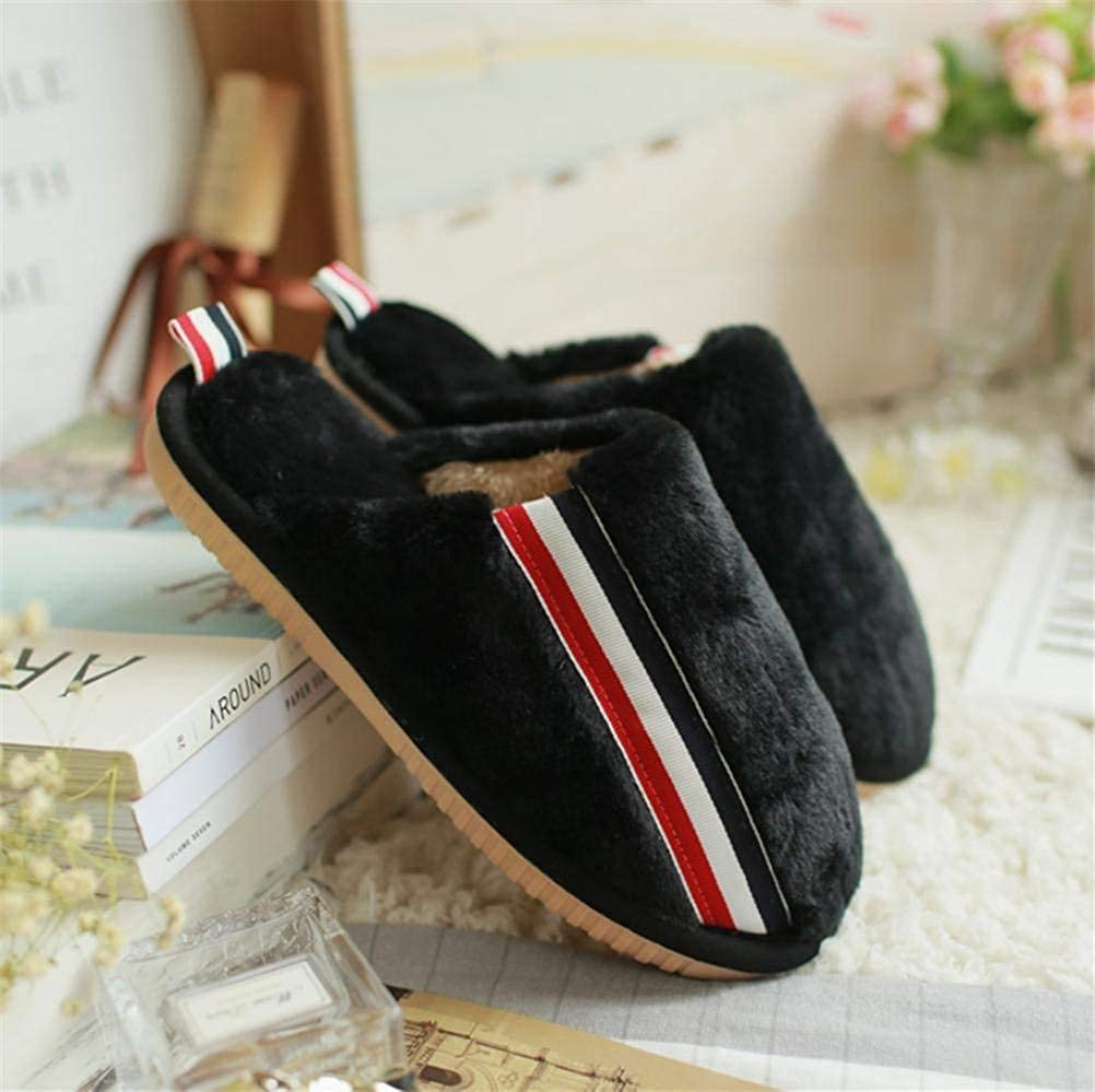 Black JaHGDU Lady Cotton Slippers Keep Warm in Autumn and Winter Home shoes Slip Slippers for Women Pink Black Khaki
