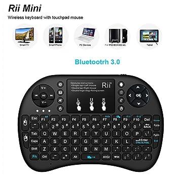 Rii I8 + Teclado inalámbrico Bluetooth 92 Teclas retroiluminadas Teclado Multimedia (Color: Negro): Amazon.es: Electrónica