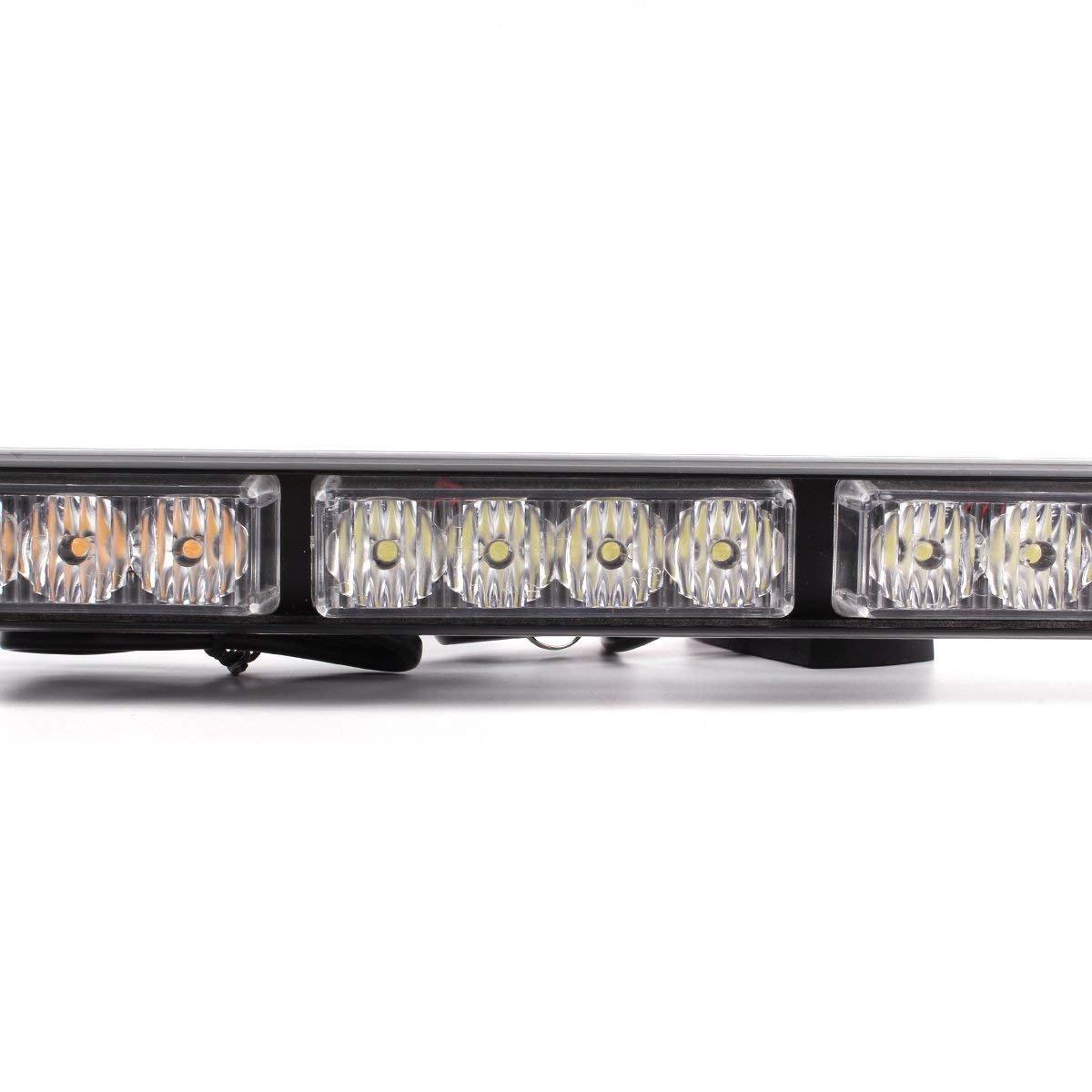 LifeUp/® 16W 4x4 LED Emergency Warning Traffic Light Vehicle Strobe Lights Emergency Flashing Warning Beacons Blue+Red