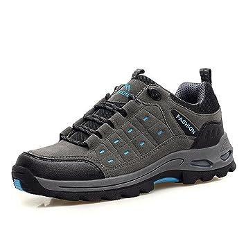 Mens / Damen Leder Wanderschuhe Sommer und Herbst Mode Outdoor Sportschuhe wasserdicht atmungsaktiv langlebig und bequem zu tragen , black , 41