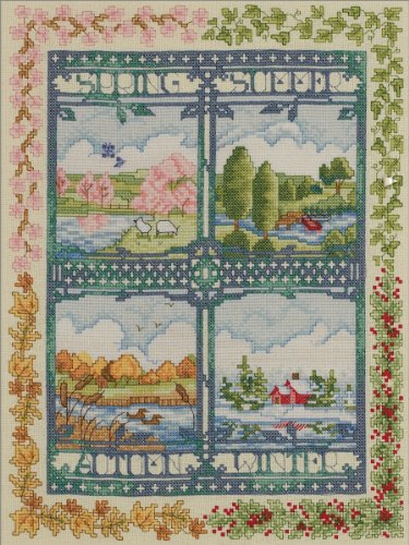 Bucilla Counted Cross Stitch Picture Kits, 45572 Four Seasons