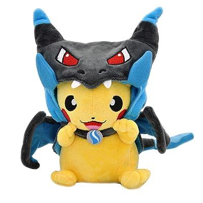 "SHDZKJ Charizard Pikachu Plush Stuffed Animal Toy Pikachu Go Pillow 9.8"" (Blue): Home & Kitchen"