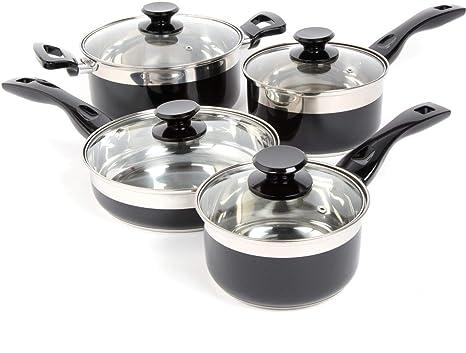 Amazon.com: Juego de 8 utensilios de cocina de acero ...