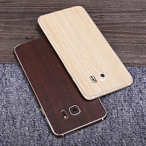 Mobile Phones & Accessories - Colorful Matte Anti-Scratch Wood Grain Phone Sticker Protector Galaxy Edge - Wooden Cereal Lawsuit Woody Granulate Suit Forest Ingrain Instance - 1PCs