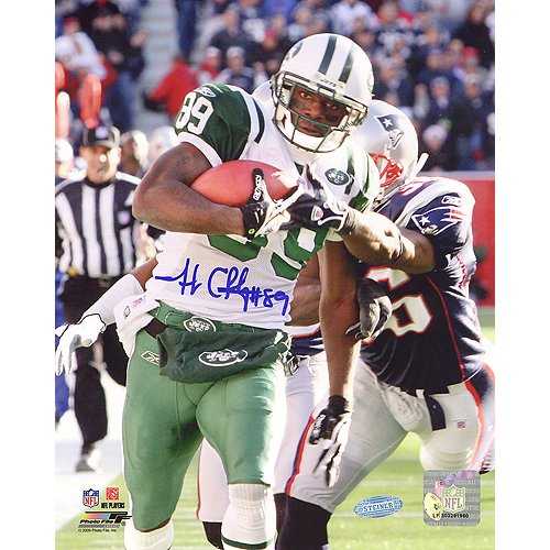 Steiner Sports NFL Jerricho Cotchery Catch and Run Vs Patriots Vertical Autographed 8-by-10-Inch -