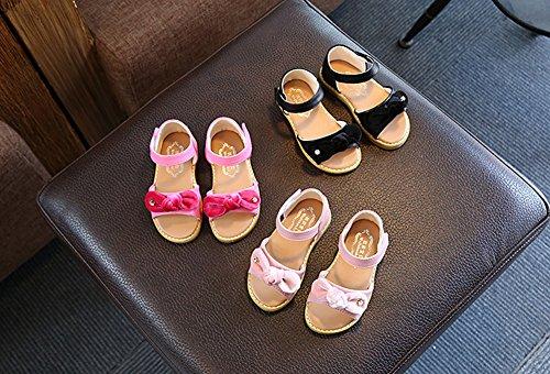 Scothen Niñas strappy sandalias zapatos de verano zapatos casuales zapatos de las sandalias de playa sandalias sandalias romanas los niños zapatos princesa del flip-flop los zapatos la bailarina Pink