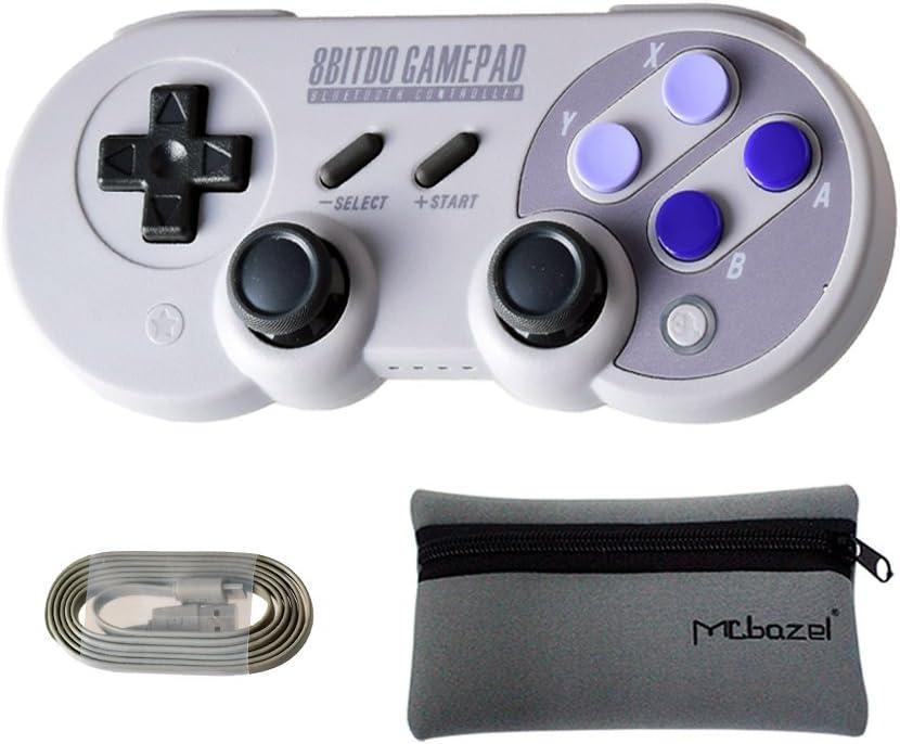 Mcbazel 8Bitdo SN30 Pro Bluetooth Wireless Controller for NS Switch/Windows/Android/Macos/Stream – with Mcbazel Storage Bag