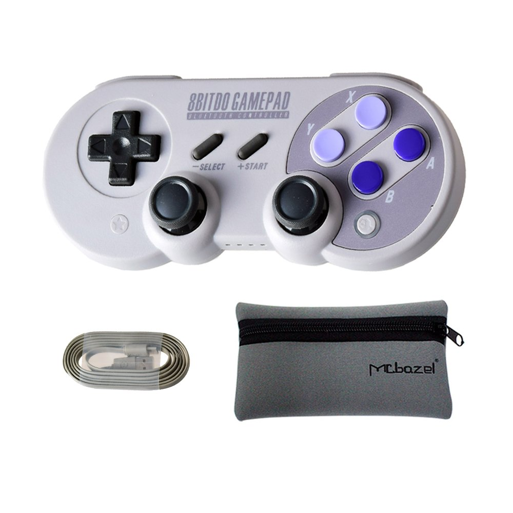 Mcbazel 8Bitdo SN30 Pro Bluetooth Wireless Controller for NS Switch/Windows / Android/Macos / Stream - With Mcbazel Storage Bag