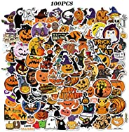 Halloween Stickers 100 pcs Witch Stickers Vinyl Waterproof Stickers for Kids Teens Adults Bike Luggage Car Lap