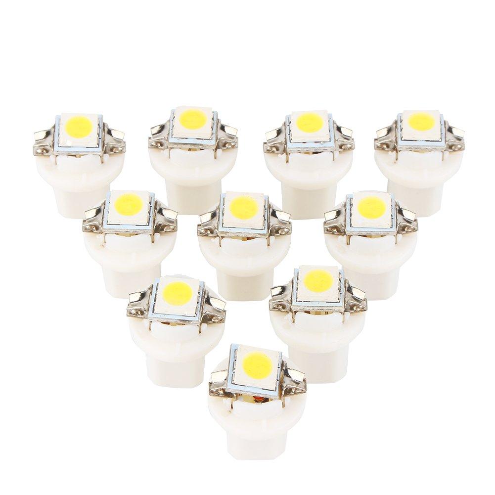 T5 B8.5D 5050 1-SMD 12/V color blanco 10 unidades Luz LED para coche