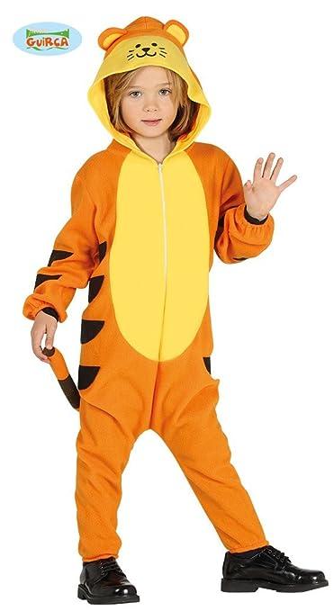 Tiger Tigerkostüm für Kinder Karneval Fasching Tier Safari Afrika Savanne Gr. 98 - 116, Größe:140/146