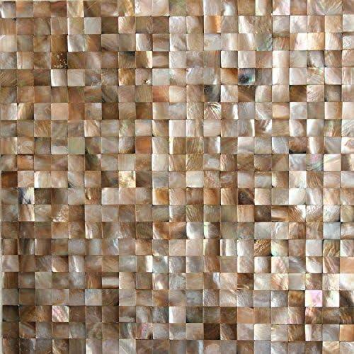 Siciz Brown Seamless Seashell Tiles Mother Of Pearl Mosaic Tiles Genuine Shell Tiles 5 Square Feet Amazon Com