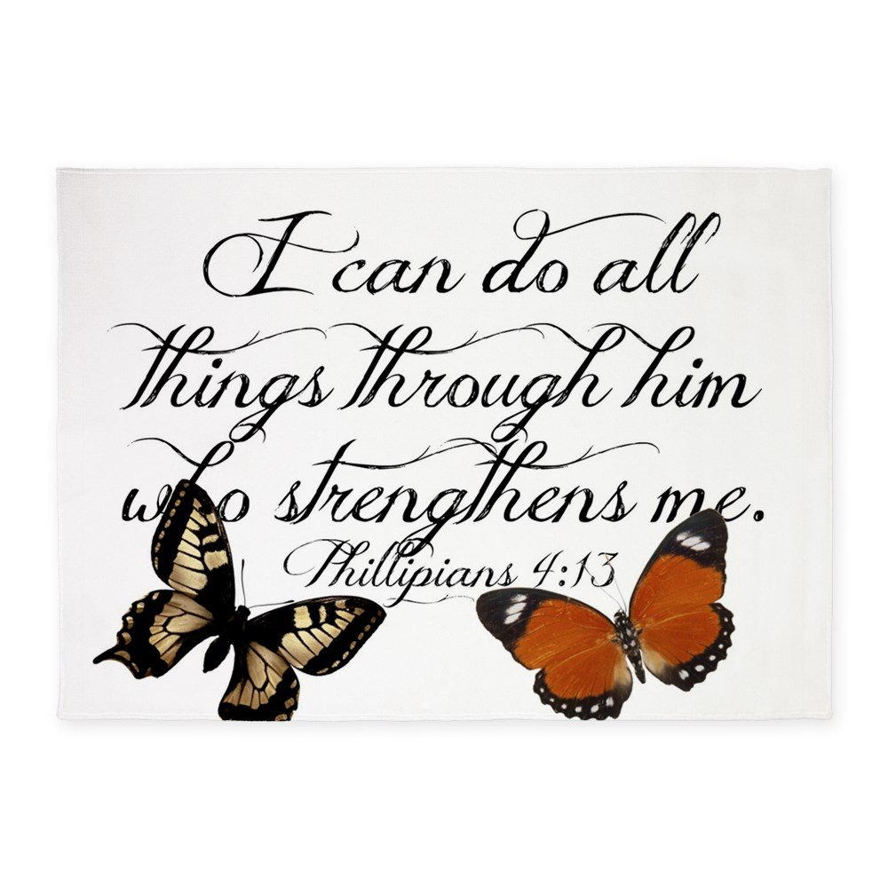 CafePress - Phillipians 4:13 - Decorative Area Rug, 5'x7' Throw Rug by CafePress
