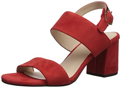 6c7027ed66 Cole Haan Women's Blakely MID Sandal Heeled, Aura Orange Suede, ...