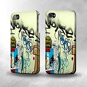 Apple iPhone 4 / 4S Case - The Best 3D Full Wrap iPhone Case - Street Wall Graffiti