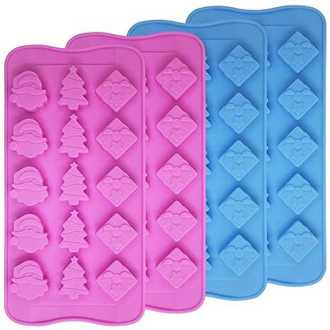 4 paquetes de molde de silicona de grado alimenticio para chocolate, molde de dulces, SourceTon, ...