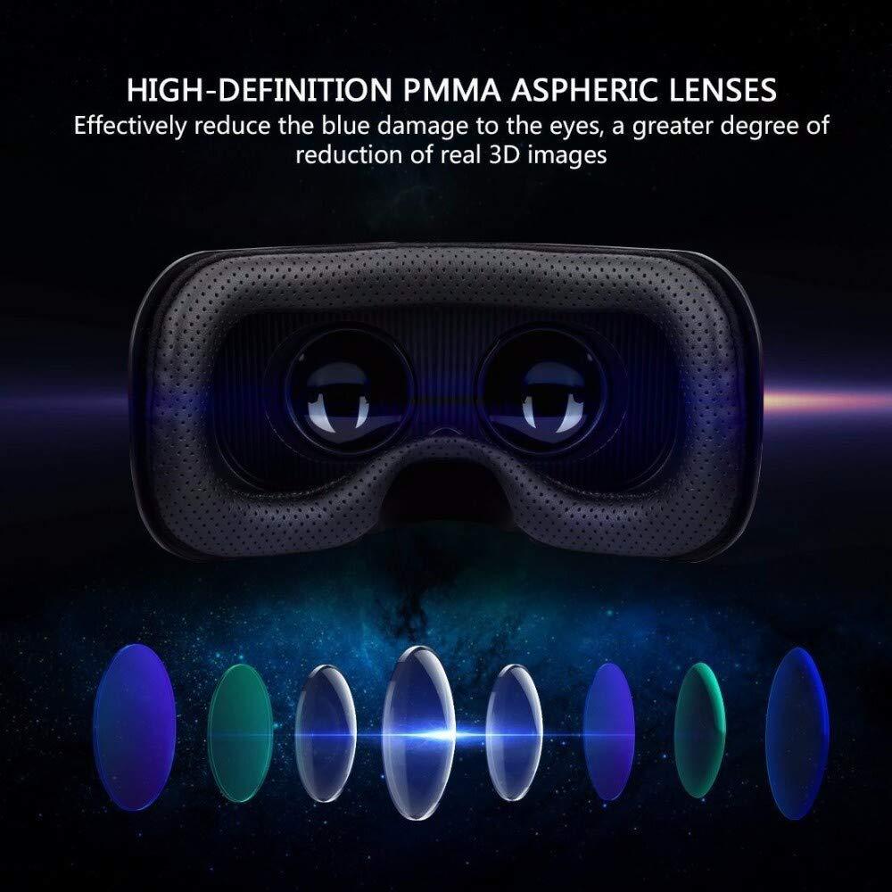 XG-BH Auriculares 3D VR Auriculares de Realidad Virtual Gafas 3D VR para Todos los tel/éfonos Inteligentes con Control Remoto inal/ámbrico Bluetooth