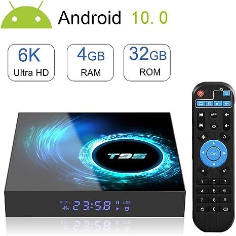 DOOK Android 10.0 TV Box 4G+32G T95 2020 El más Nuevo Smart TV Box