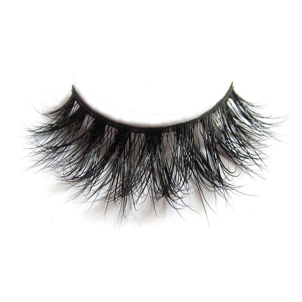 3D Mink Fur Fake Eyelashes 100% Siberian Mink Fur Hand-made False Eyelashes 1 Pair Package