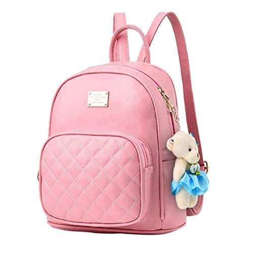 Alice Cute Teddy Baby Pink Mini PU Leather Backpack Fashion Small Daypacks  Purse for Girls and Women  Amazon.in  Shoes   Handbags 807baf03333cf