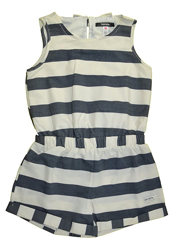 2fc34b29afbb Amazon.com  Kensie Girls  Striped Romper With Opening On Back  Clothing