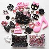 LOVEKITTY DIY 3D Blinged Out Kitty Cell Phone Case Resin Cabochons Deco Kit