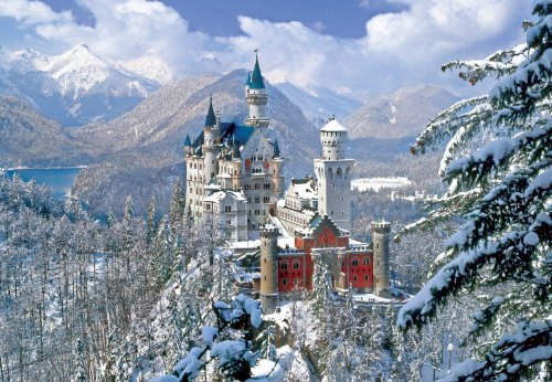 Winter at Neuschwanstein Castle 2000pc Jigsaw Puzzle by Buffalo Games