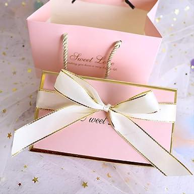 Exquisita Caja de regalo Chica Corazón Rosa Cumpleaños Lápiz ...