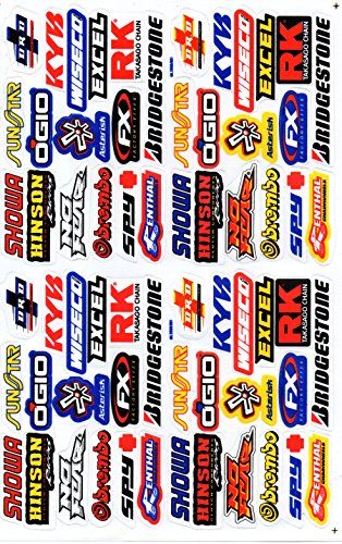 Sponsor Decal Sticker Tuning Racing Sheet Size: 27 x 18 cm for Car or Motorbike (Decals Sponsor Racing)