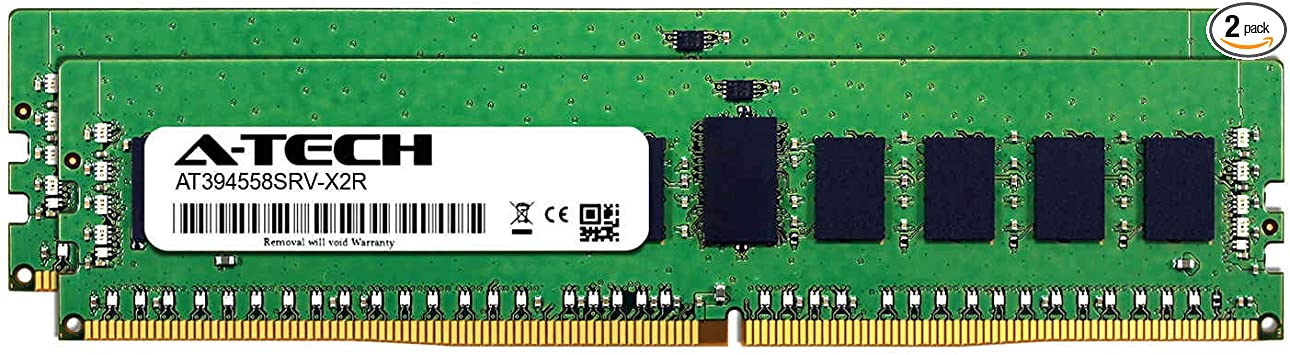 AT394554SRV-X1R6 DDR4 PC4-21300 2666Mhz ECC Registered RDIMM 1rx4 Server Memory Ram A-Tech 16GB Module for ASUS X99-M WS