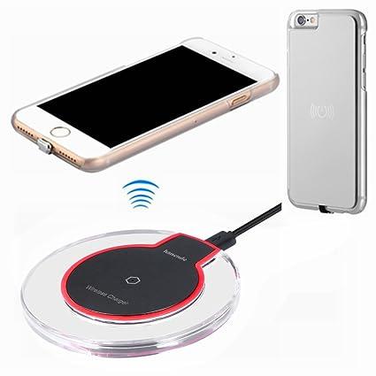 hanende Kit de Cargador Inalámbrico para iPhone 6 / 6S, Qi Carga inalámbrica Pad y Receptor inalámbrico para iPhone 6 / 6S (Plata)