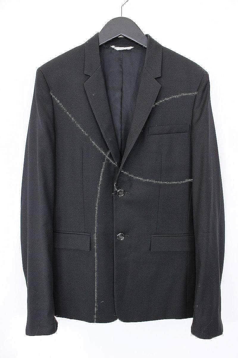(ディオールオム)Dior HOMME ステッチデザインテーラードジャケット(44/ブラック) 中古 B0785SF7KK