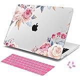 Batianda MacBook 12 ハードケース、12インチ マックブック エア シェルカバー + JIS配列日本語キーボードカバー + 防塵カバー ダストプラグ付きラップトップ ケース - 花 J077