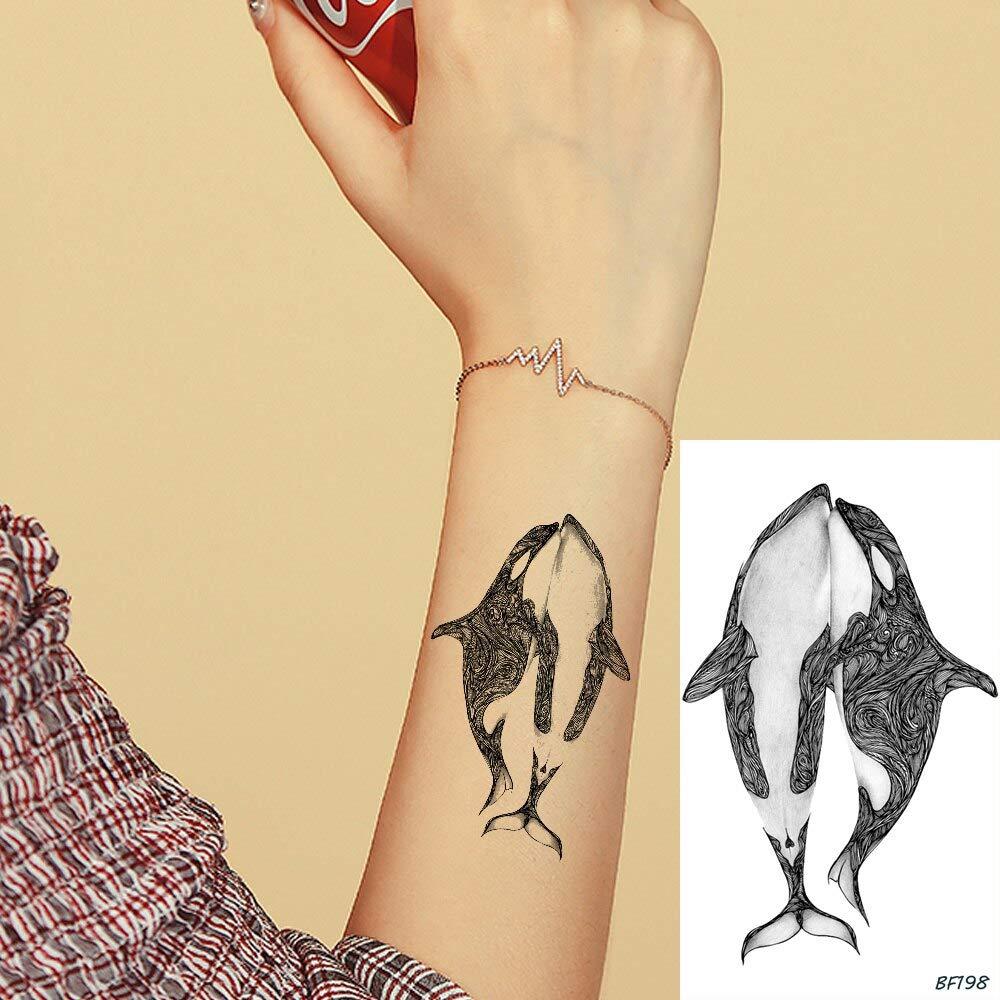 tzxdbh 6 Pirce Lindo 3D Ballena Negra Delfín de Agua Tranfer ...