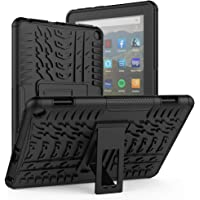 ROISKIN Dual Layer Anti-Slip Shockproof Armor Protective Case with Kickstand for HD 8/8 Plus Tablet Case 10th Generation 2020 Released