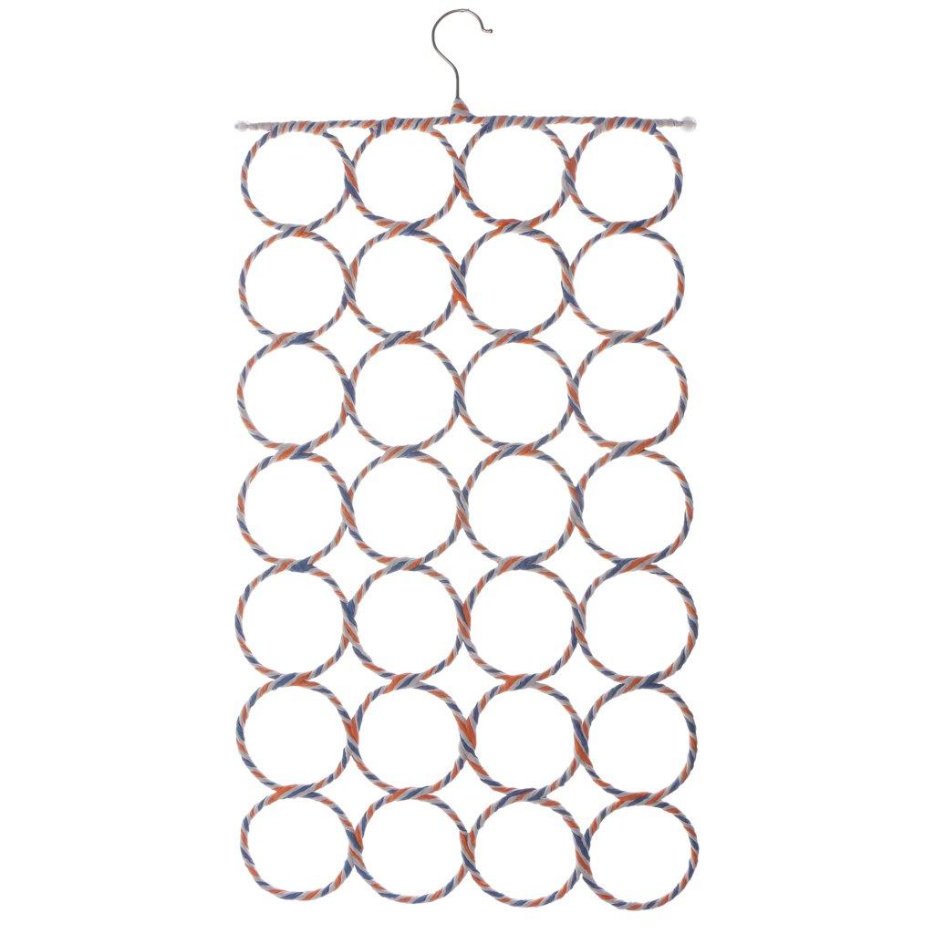 LOVIVER Scarf Hanger Scarves Display Ties Belt Organize Circle Storage Holder Pick - 28 Circles by LOVIVER