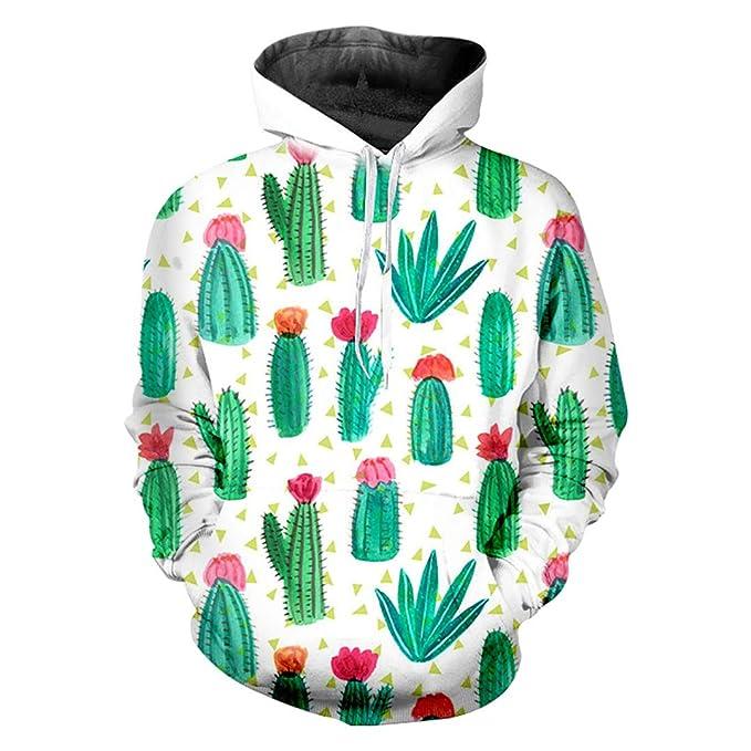 W-WORDEW Sudaderas con Capucha Cacti Mujer/Hombre Ropa Punk Sudaderas Estilo Sudadera con Capucha 3D Sudaderas Streetwear Cap CháNdales: Amazon.es: Ropa y ...