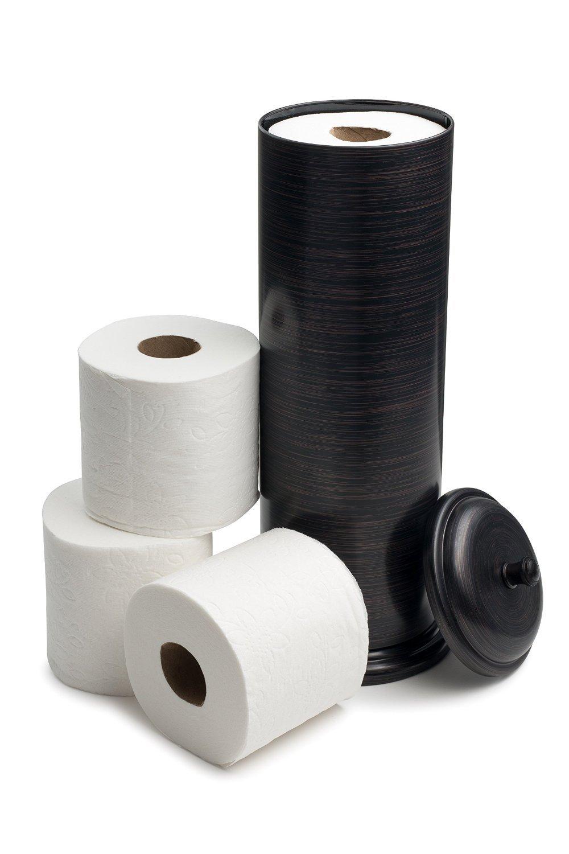 Good estilo toilet paper holder toilet tissue canister antique bronze - Toilet roll canister ...