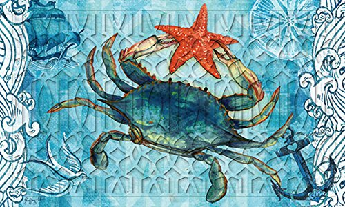 Evergreen-Blue-Crab-and-Starfish-Embossed-Floor-Mat-18-x-30-inches