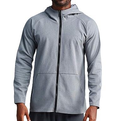 Wolfleague Sweats à Capuche Homme Pull à Manches Longues Sweat Shirts Hiver Chaud Manteau Casual Sweat Chandail Tops Oversize Sweatshirt Couleur Unie