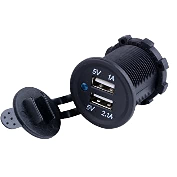 Pixnor Doble puerto USB adaptador de coche mechero Socket Splitter 12v cargador