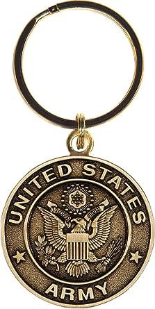 """Military Key Ring U S Air Force Emblem full color metal NEW 1 1//2/"""" diameter"""