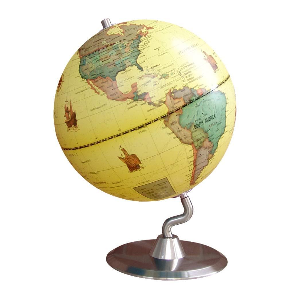Globo girevole educativo Globo da tavolo rotante con decorazione da insegnamento 25 cm Mosaico decorativo da tavolo mondo decorativo da insegnamento Educativo e diverdeente per i bambini delle scuole