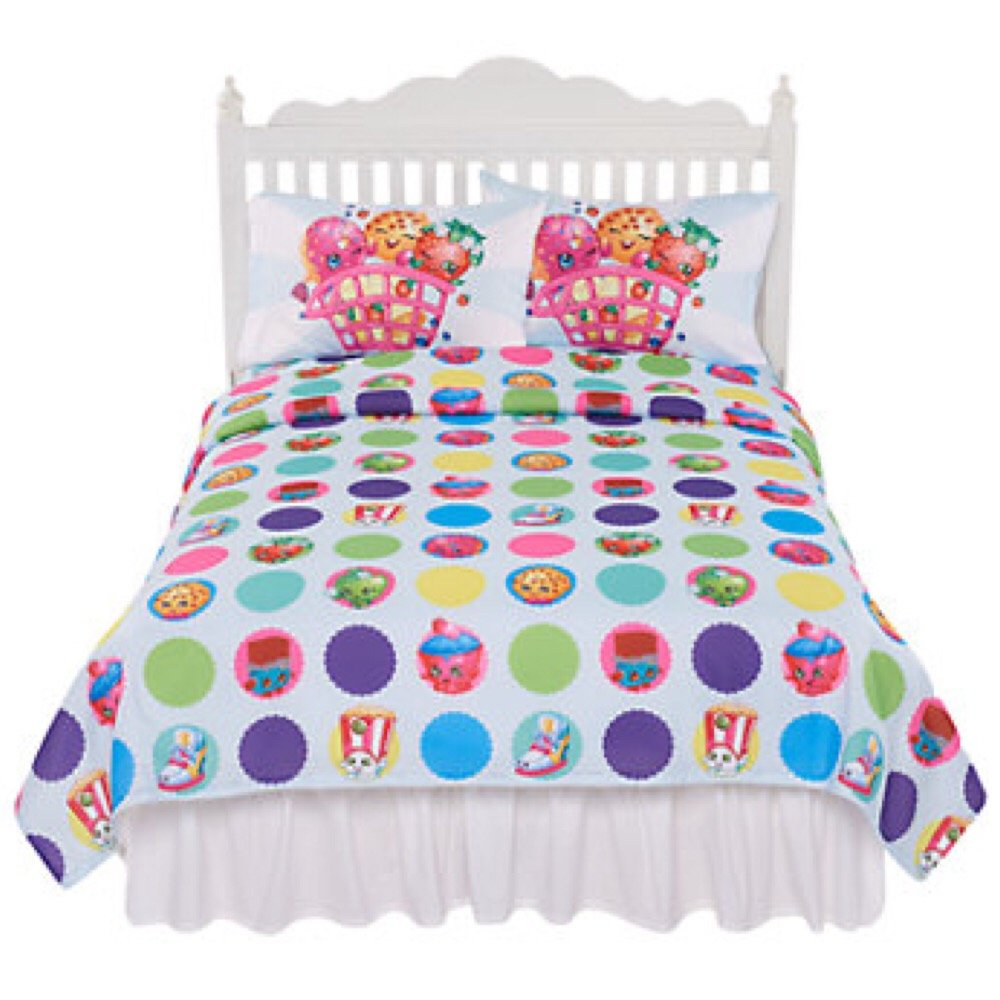 Shopkins Deluxe Complete Sheet Set w/ Pillow Case - Twin