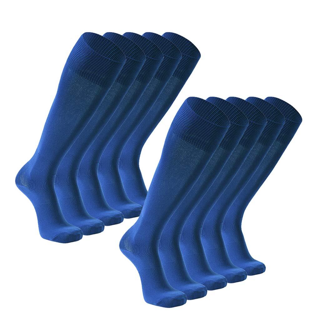 FOOTPLUS Unisex Knee High Solid Football Socks Soccer Socks 2//6//10 Pairs